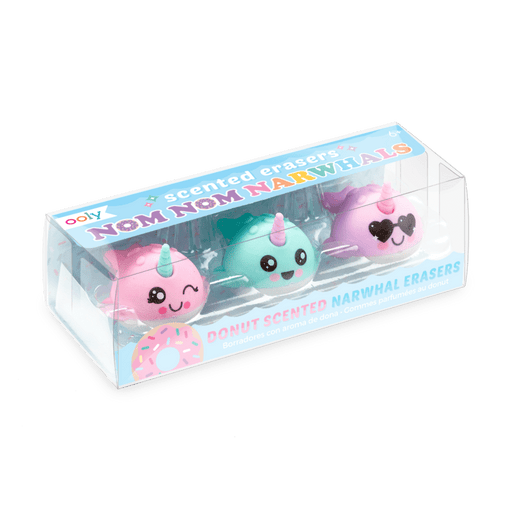 Nom Nom Narwhals Scented Erasers - Set of 3