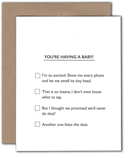 Baby Multiple Choice Card