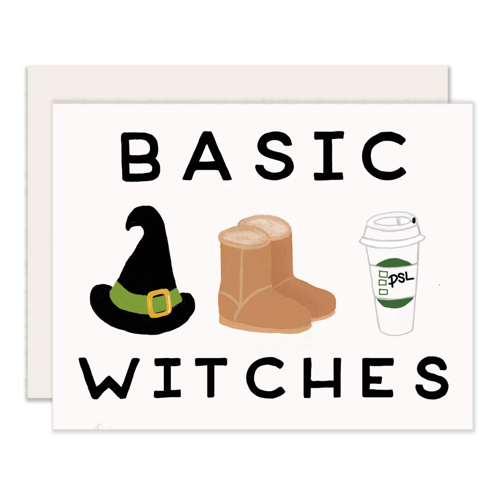Basic Witches Fall Card