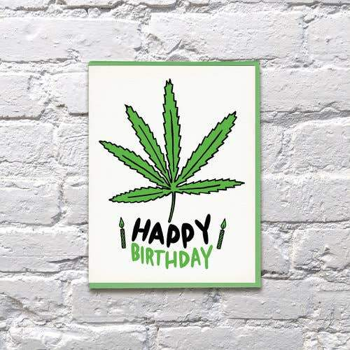 Happy Weed Day Birthday Card