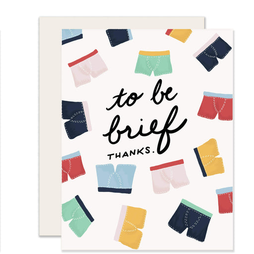 Brief Thanks Card