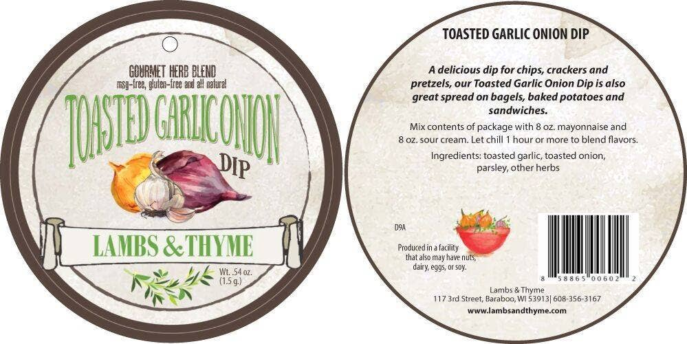 Toasted Garlic and Onion Dip Mix