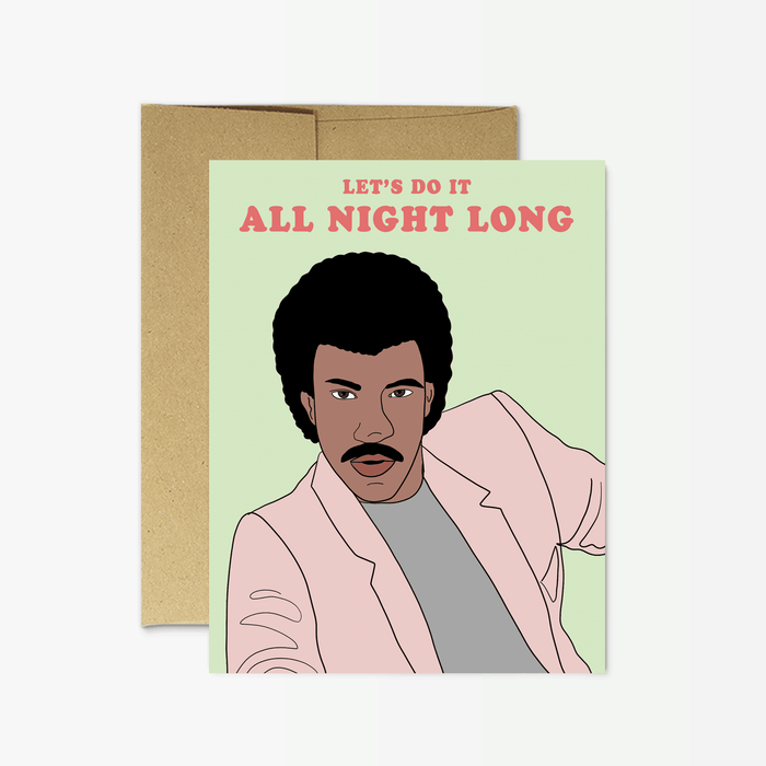 Lionel Richie All Night Card