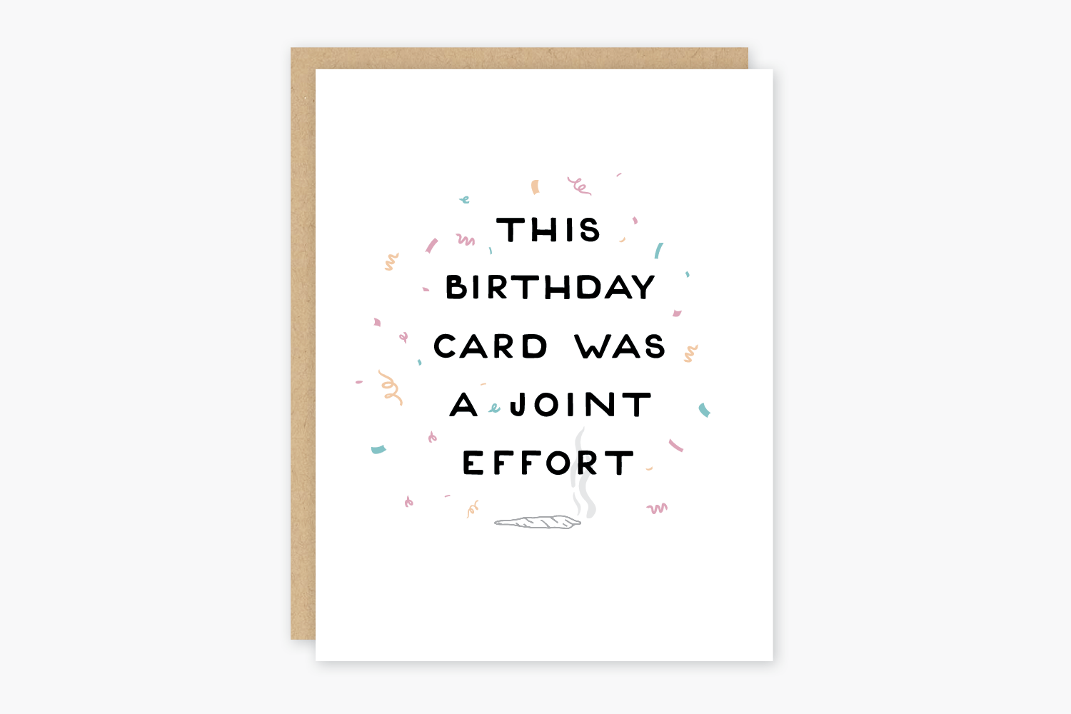 Joint Effort Birthday Card