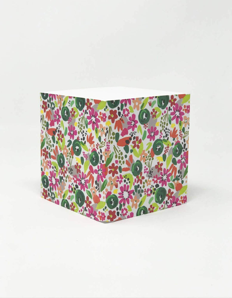 Confetti Floral Sticky Note Cube