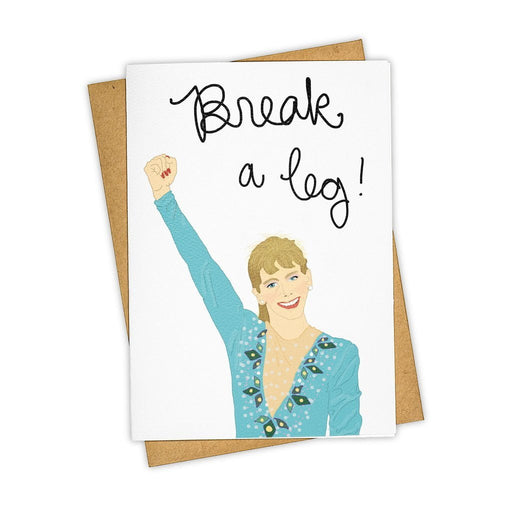 Break A Leg Tonya Harding Card