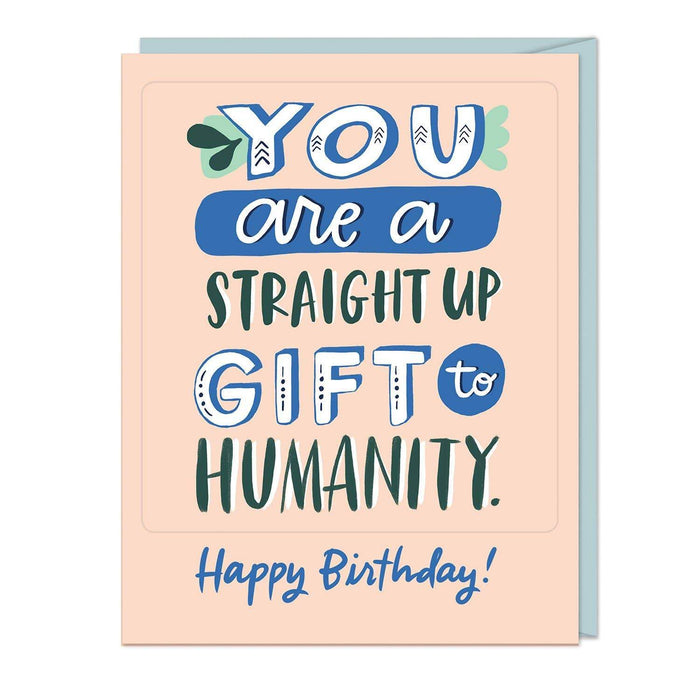 Gift to Humanity Birthday Sticker Card