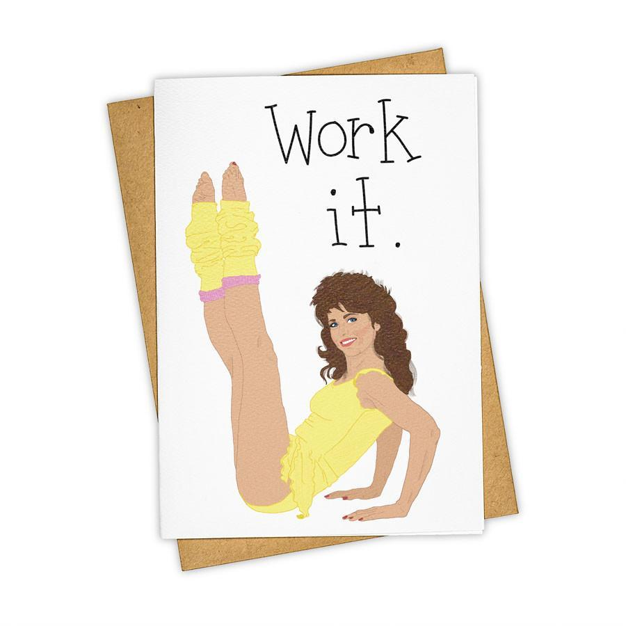 Work It Jazzercise Birthday Card