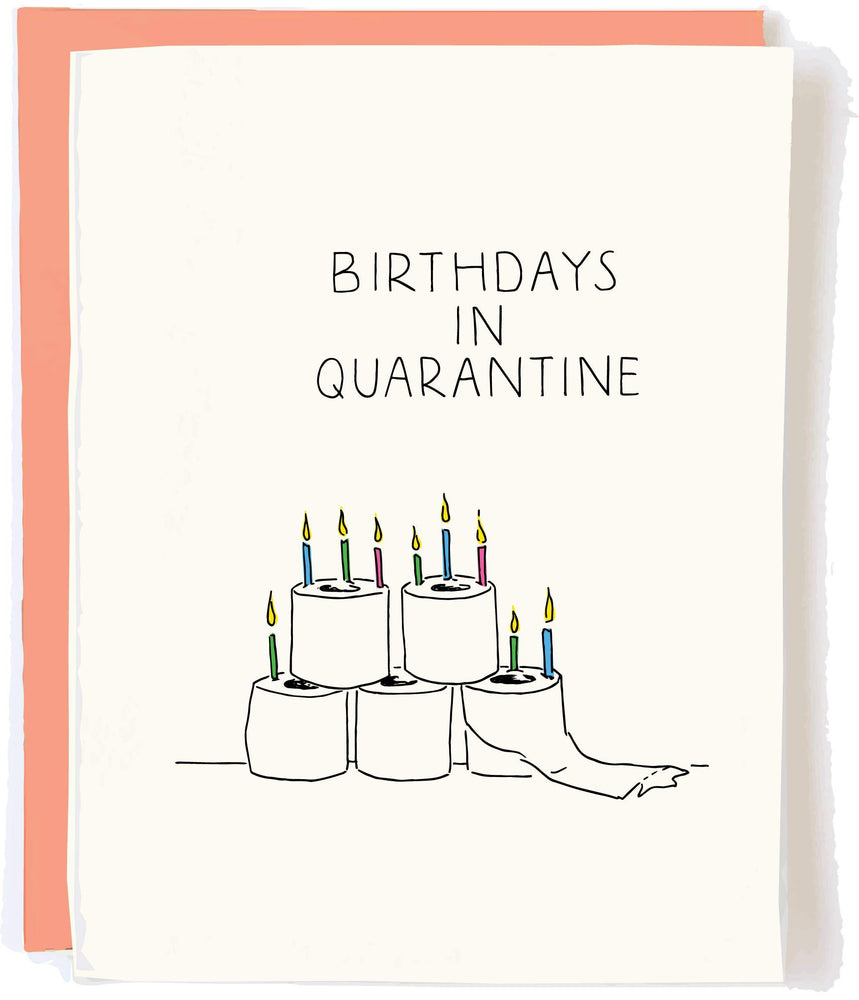 Toilet Paper Quarantine Bday Card