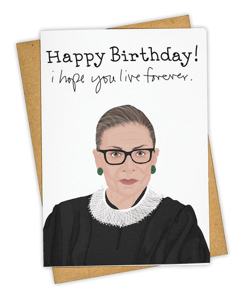 RBG Live Forever Birthday Card