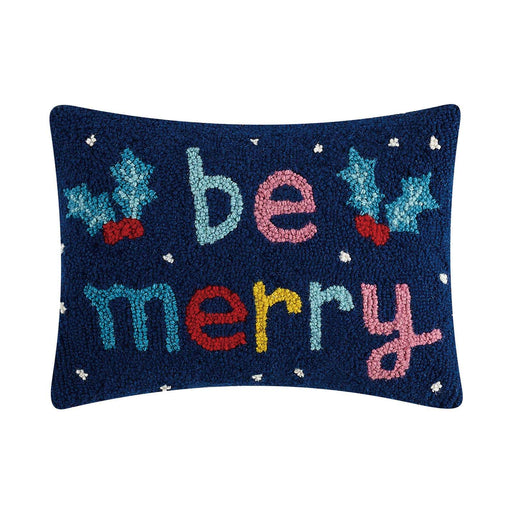 Be Merry Hook Pillow - Christmas