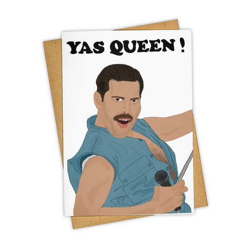 Yas Queen Freddie Mercury Card