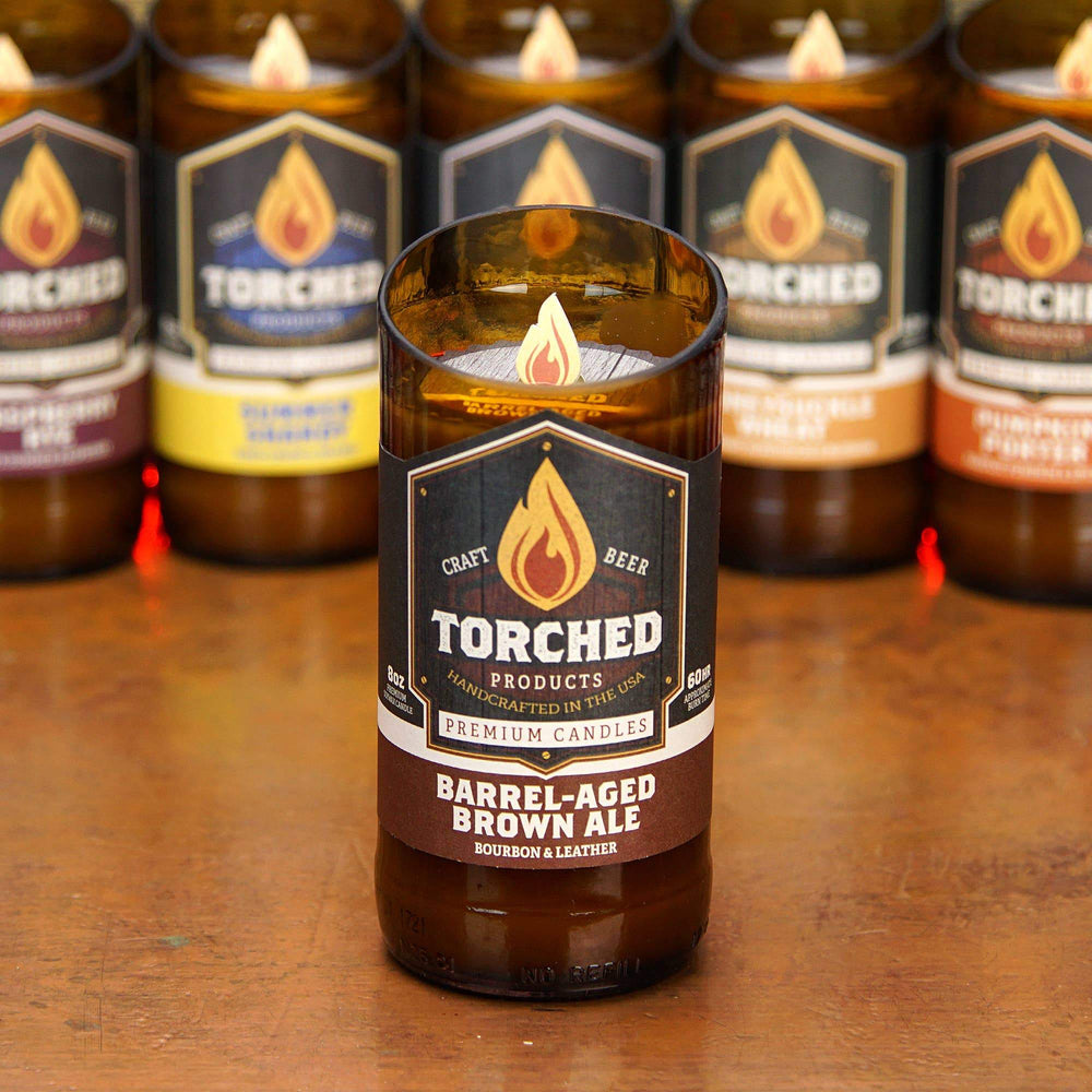 Torched Products - Torched Beer Bottle Candle 8 oz