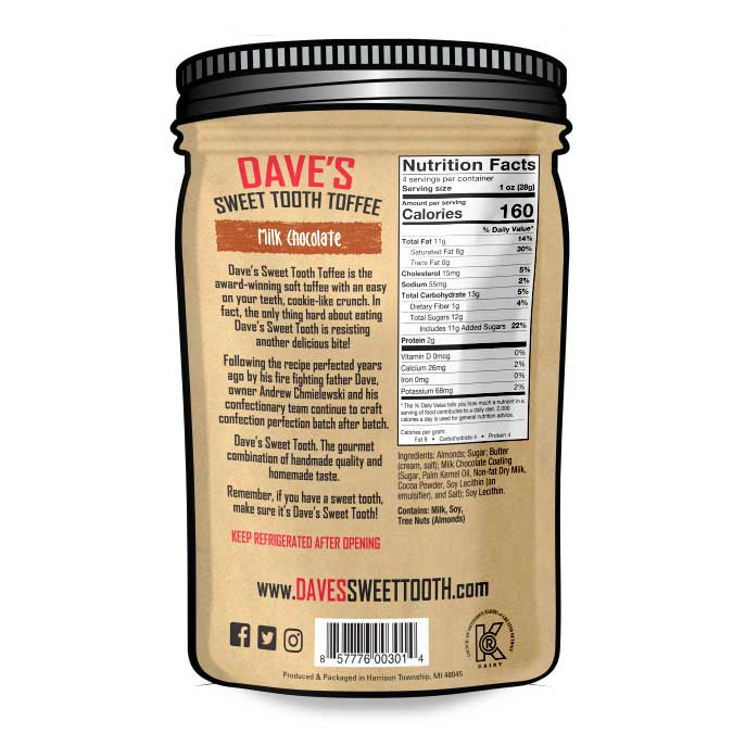 Dave's Sweet Tooth Milk Chocolate Toffee