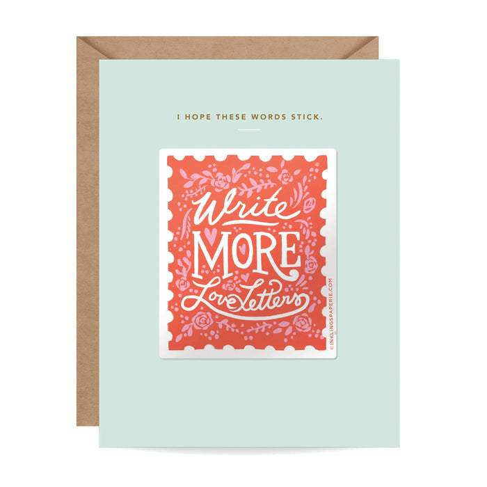 Sticker Card - Write More Love Letters