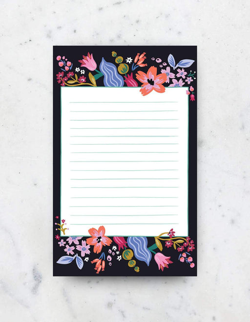 Coral Floral Notepad