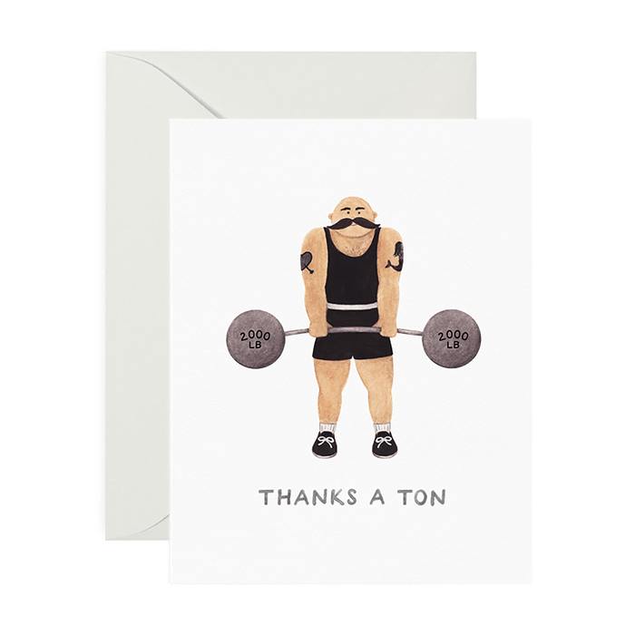 Thanks A Ton Strongman Card