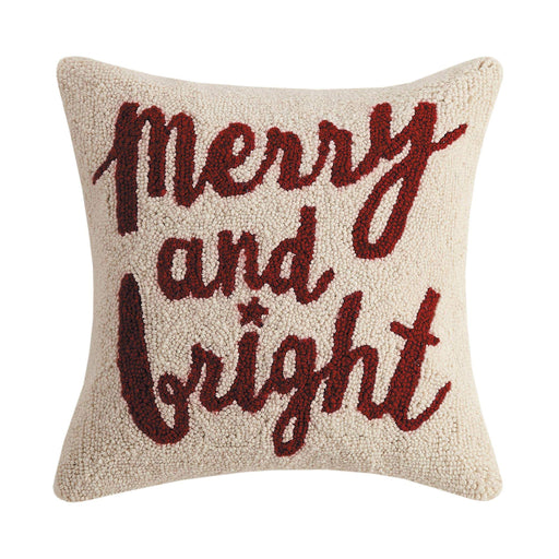 Merry And Bright Hook Pillow - Christmas