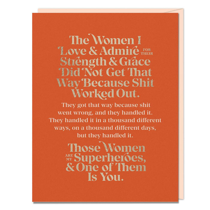 Elizabeth Gilbert The Women I Love and Admire Card