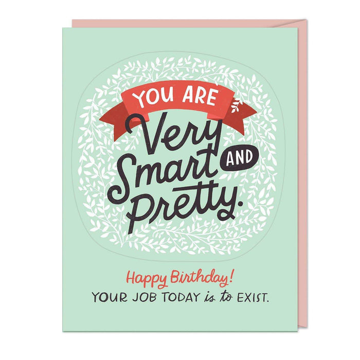 You Are Very Smart and Pretty Birthday Sticker Card