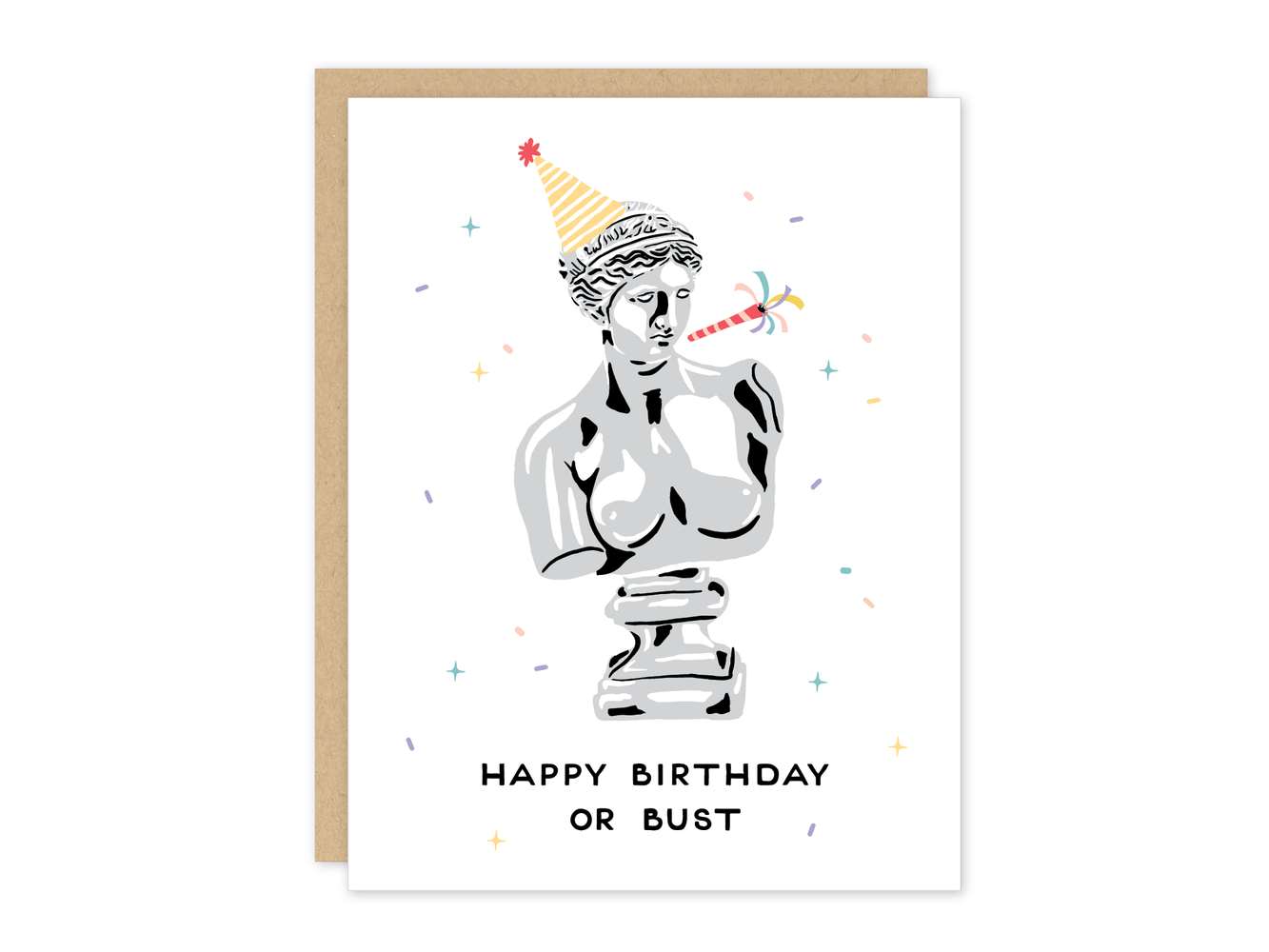 Birthday Bust Card