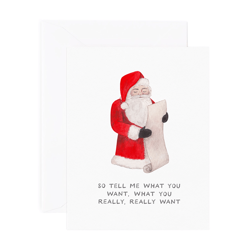 Spice Girls Santa Holiday Card