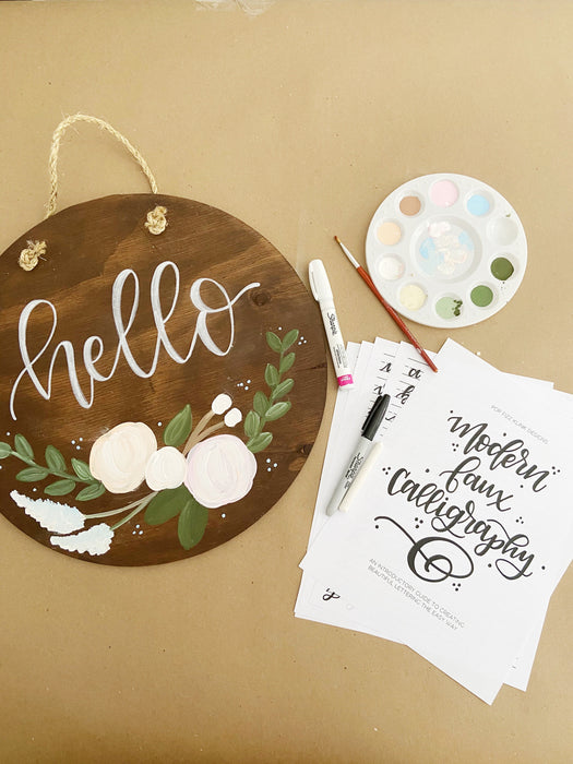Intro to Hand Lettering & Wood Board Crafting with Pop Fizz Klink SALINE