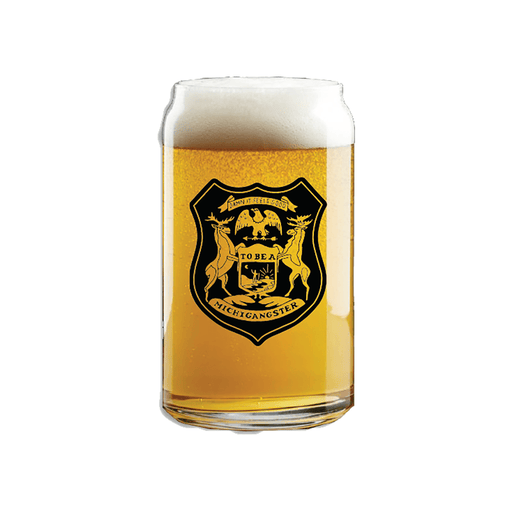 Michigangster Beer Can Pint Glass