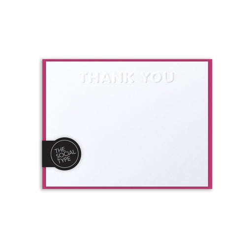 Embossed Thank You Notes (Multiple Colors!)