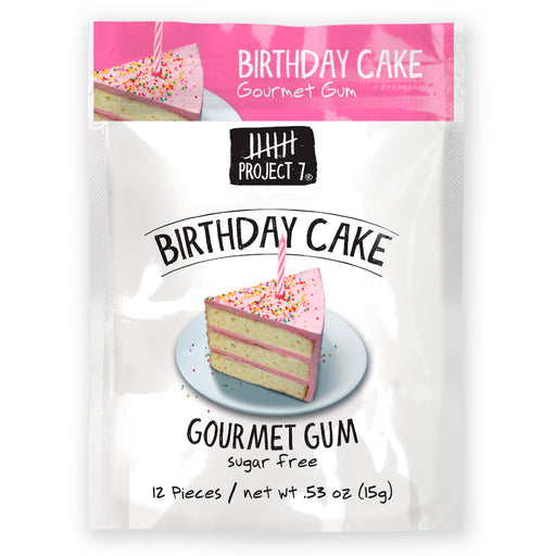 Project 7 Birthday Cake Gum 2-Pack