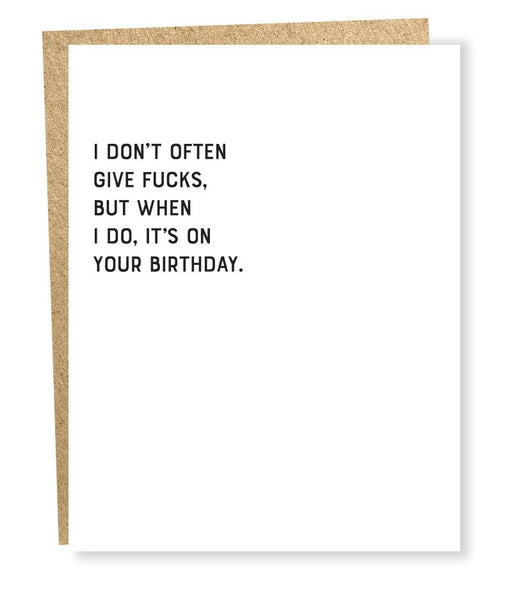Sapling Press Give F*cks Birthday Card