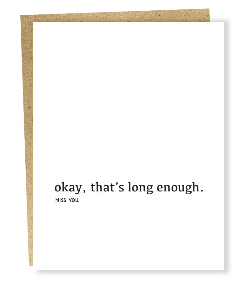 Sapling Press Long Enough Card