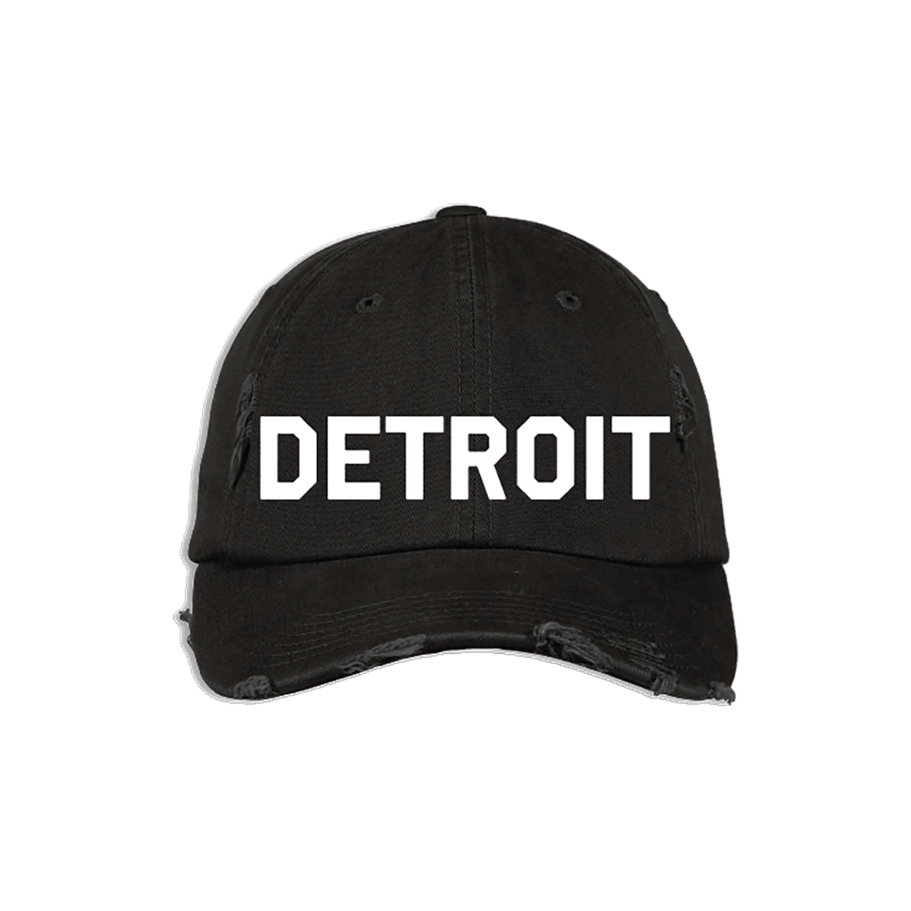 Black & White Detroit Hat