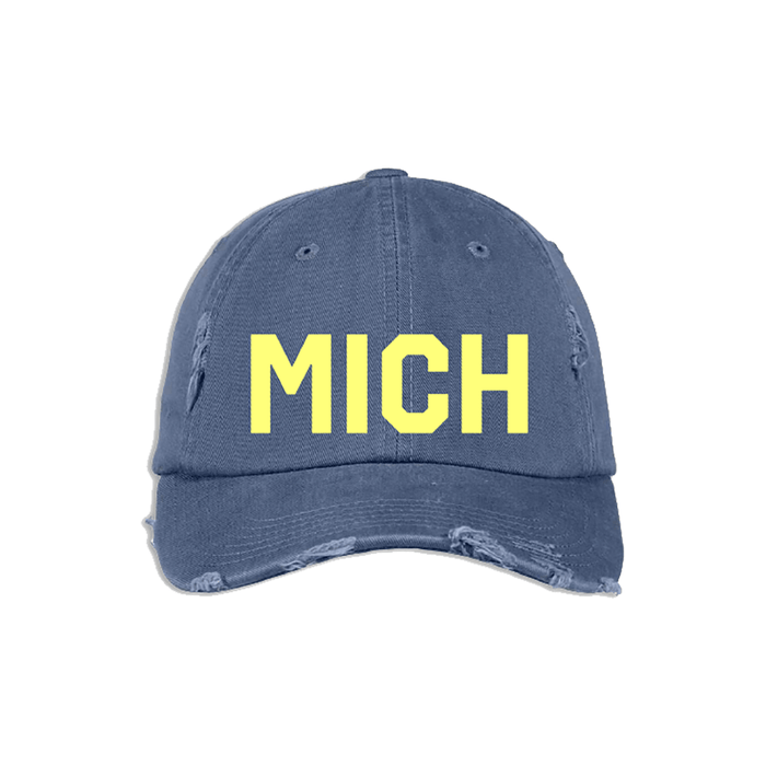 Navy & Yellow MICH Hat