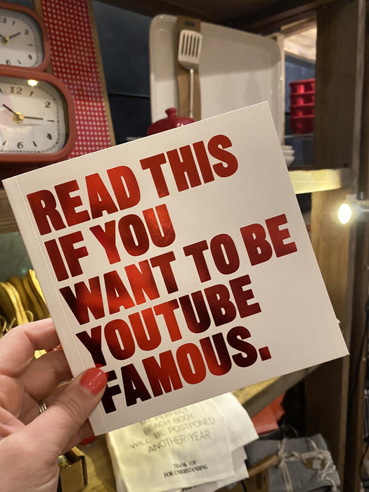 If You Want to Be You Tube Famous