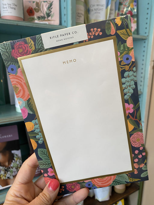 Navy Floral Large Memo Notepad