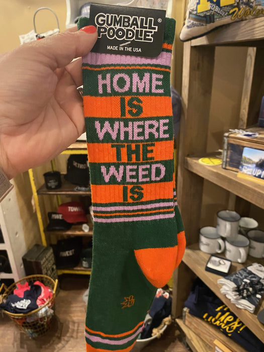 Where the Weed Is Unisex Socks
