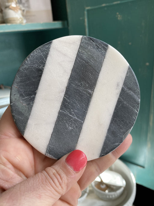 Black & White Marble Round Coasters