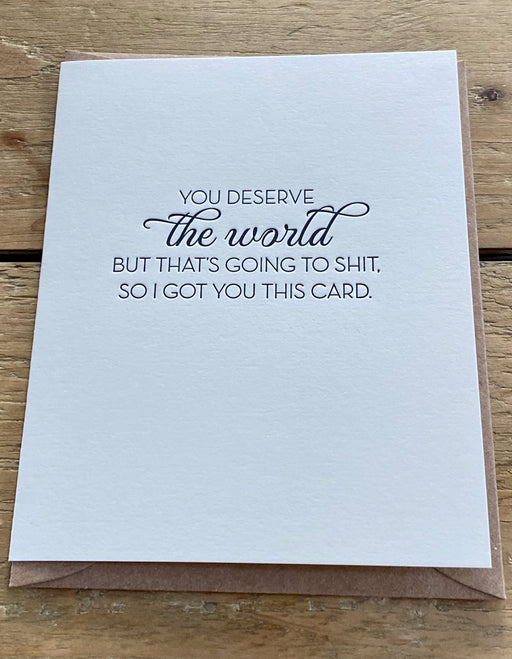 Deserve The World Card