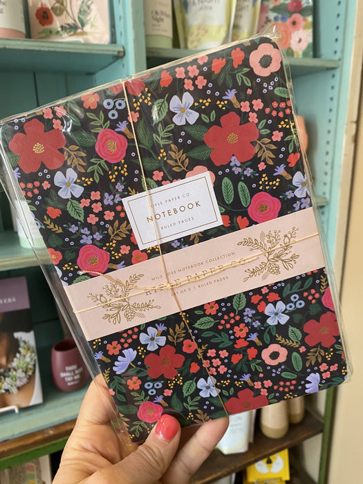 Rifle Paper Co. Navy Floral Notebooks- Set of 3