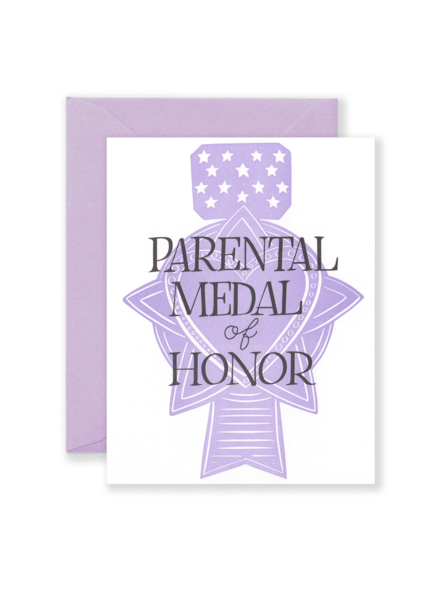 Parental Medal of Honor Card