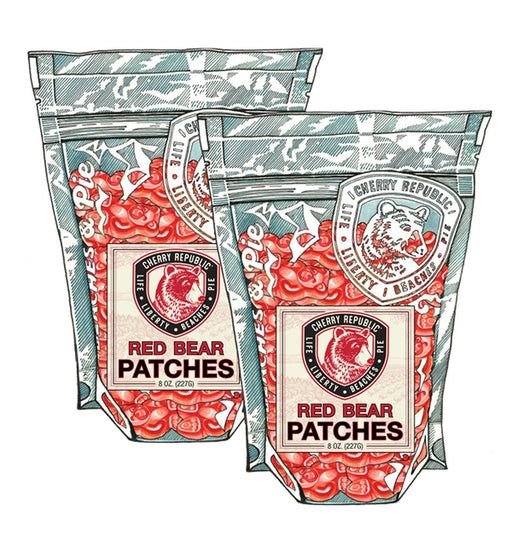 Cherry Republic Red Bear Patches
