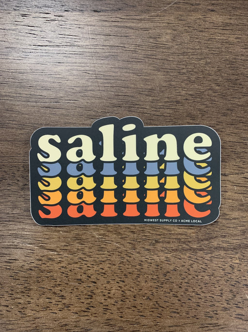 Repeating Saline Sticker