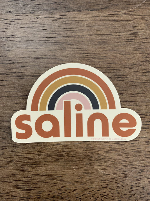Saline Rainbow Sticker