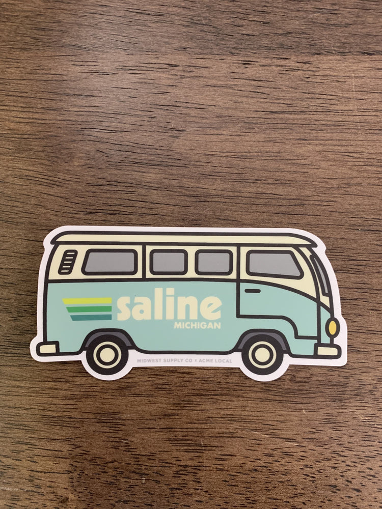 Saline Mint Camper Van Sticker
