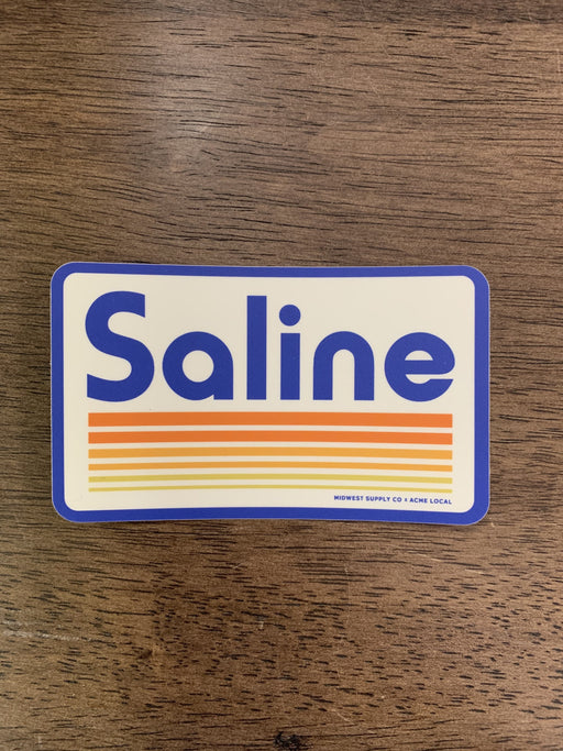 Saline Retro Sticker
