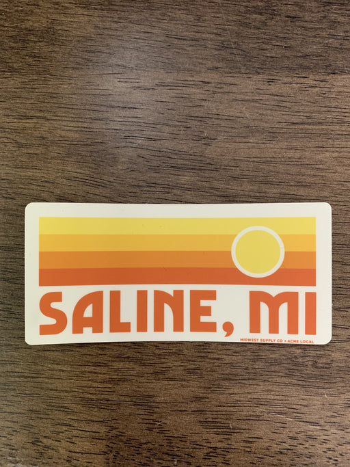 Saline Sunset Sticker