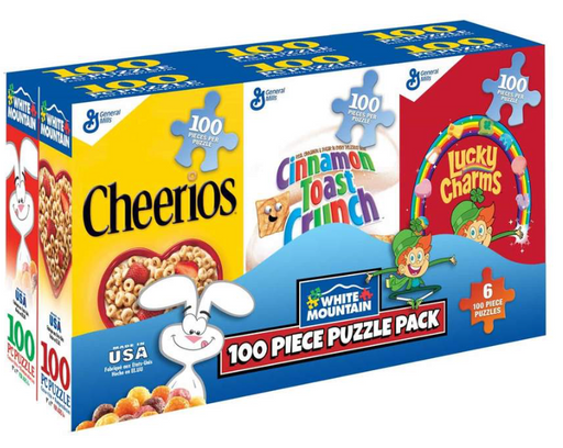 Mini Cereal Boxes 100 Piece Puzzles 6-Pack