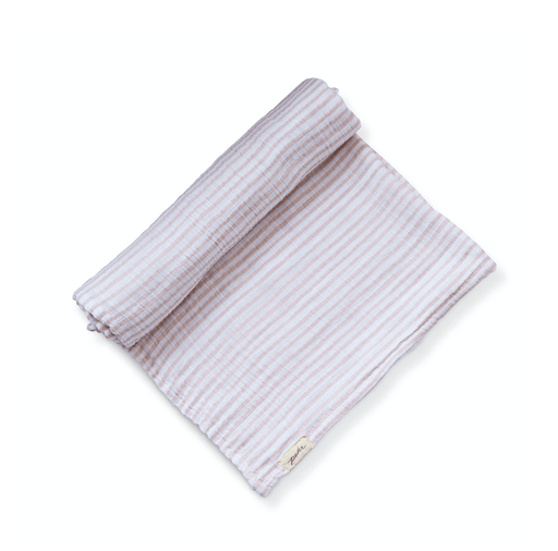 Petal Striped Organic Swaddle