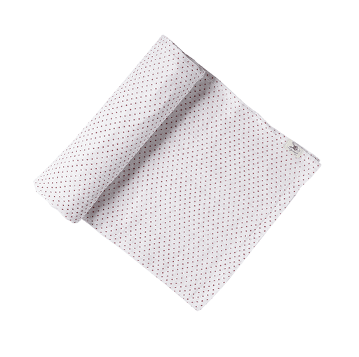 Fuchsia Pin Dot Organic Swaddle